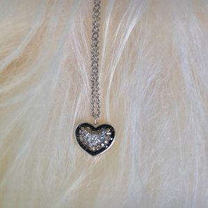 Diamond Heart Shaped Pendant Necklace 18k Wh Gold